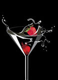 Martini with strawberry Royalty Free Stock Image
