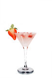Martini with strawberry and ice Stock Photo