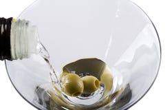 martini suchy dolewanie Fotografia Royalty Free