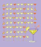 Martini with Summer Lemon. Illustration Stock Photo