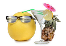 Martini with sunglasses Royalty Free Stock Photography