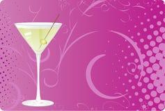 Martini sur le fond tramé violet Images stock