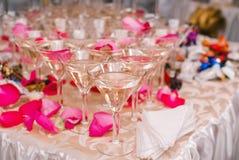 Martini szkła ostrosłup obrazy royalty free