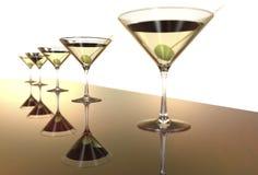 Martini szkło 3D odpłaca się Fotografia Royalty Free