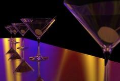 Martini szkło 3D odpłaca się Zdjęcia Royalty Free
