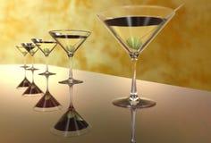 Martini szkło 3D odpłaca się Obrazy Stock