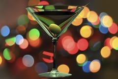Martini szkło 3D odpłaca się Obrazy Royalty Free