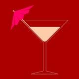 Martini szkło - ilustracja Obrazy Royalty Free