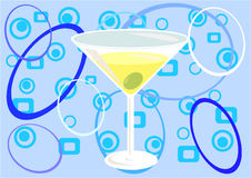 Martini time!. A glass of Martini - illustration Stock Images