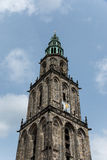 Martini torn i staden Groningen Arkivbild