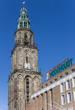 Martini tower and Vindicat building in Groningen Royalty Free Stock Image