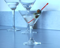 martini trifecta Royaltyfria Bilder