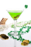 Martini verde para el día del St Patrick Foto de archivo