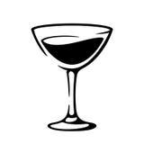 Martini vermouth goblet black illustration Stock Photos