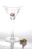 Martini and wedding bands Stock Image