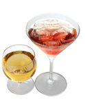 Martini and whiskey Royalty Free Stock Photos