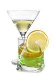 Martini whit lime Stock Image