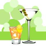 Martini y coctel Fotografía de archivo libre de regalías