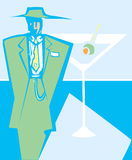Martini Zoot Suit Royalty Free Stock Images