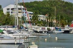 Martinica, ciudad pintoresca de Le Marin en las Antillas Imágenes de archivo libres de regalías