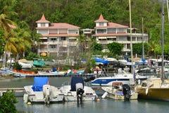 Martinica, ciudad pintoresca de Le Marin en las Antillas Imagenes de archivo