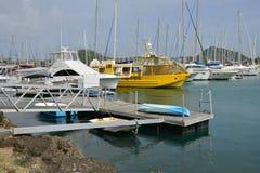 Martinica, ciudad pintoresca de Le Marin en las Antillas Foto de archivo libre de regalías