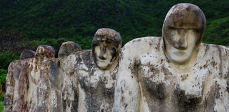 Martinique, Cap 110. Slave memorial near the Le diamant city in West Indies region Stock Images