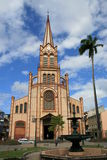 Martinique church. St. Louis Cathedral in the capital of Martinique Stock Photography