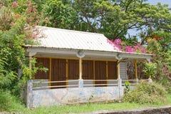 Martinique - Creools huis in sainte-Anne royalty-vrije stock afbeelding