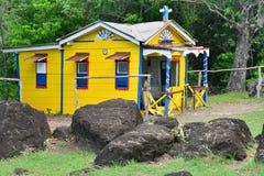 Martinique den pittoreska staden av Le Diamant i västra Indies Royaltyfria Foton