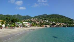 Martinique is een aardig Caraïbisch eiland stock afbeelding
