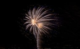 Martinique fireworks 30/12/2018 royalty free stock photo