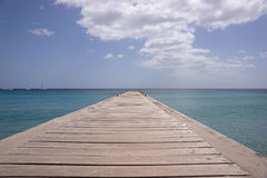 Martinique island sea and pier Royalty Free Stock Photos