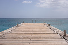 Martinique island sea and pier Royalty Free Stock Images