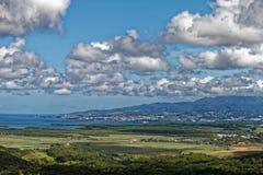 Martinique - Mening aan Fort de France van de bergen royalty-vrije stock afbeelding