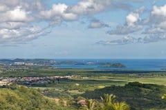 Martinique - Mening aan Les Trois Ilets van de bergen royalty-vrije stock afbeeldingen