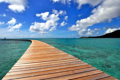 Martinique ocean pier. Martinique french caribbean island pier Royalty Free Stock Images