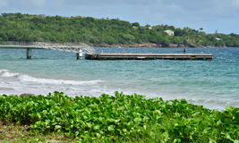 Martinique, picturesque city of Le diamant in West Indies Royalty Free Stock Images