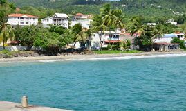 Martinique, picturesque city of Le diamant in West Indies Royalty Free Stock Photography