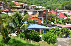Martinique, picturesque city of Le diamant in West Indies Royalty Free Stock Photos