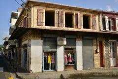 Martinique, picturesque city of Le Saint Esprit in West Indies Stock Image
