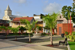 Martinique, picturesque city of Le Saint Esprit in West Indies Royalty Free Stock Photography