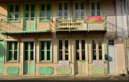 Martinique, picturesque city of Le Saint Esprit in West Indies Stock Photos