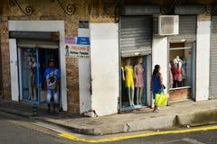 Martinique, picturesque city of Le Saint Esprit in West Indies Royalty Free Stock Photos