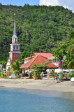 Martinique, the picturesque city of Les Anses d Arlet in West I Royalty Free Stock Photos