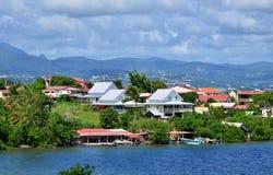 Martinique, picturesque city of Les Trois Ilets in West Indies Stock Images