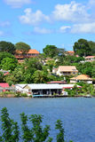 Martinique, picturesque city of Les Trois Ilets in West Indies Stock Photography