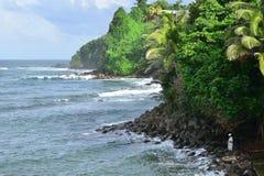 Martinique, picturesque city of Marigot in West Indies. Martinique, the picturesque seaside of Marigot in West Indies Stock Photos