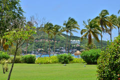 Martinique, picturesque city of Sainte Anne in West Indies Royalty Free Stock Photography