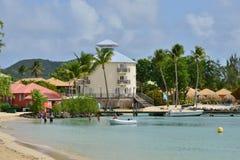 Martinique, picturesque city of Sainte Anne in West Indies. Martinique, the picturesque seaside of Sainte Anne in West Indies royalty free stock photo
